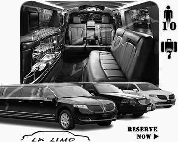 Stretch Limo airport shuttle in Winnipeg