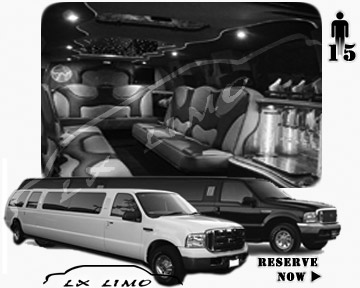 Lincoln Excursion SUV Limo for hire in Winnipeg, MB
